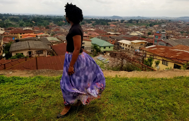 Fulbright Scholar Kala Allen looks out over the African city of Ibadan.