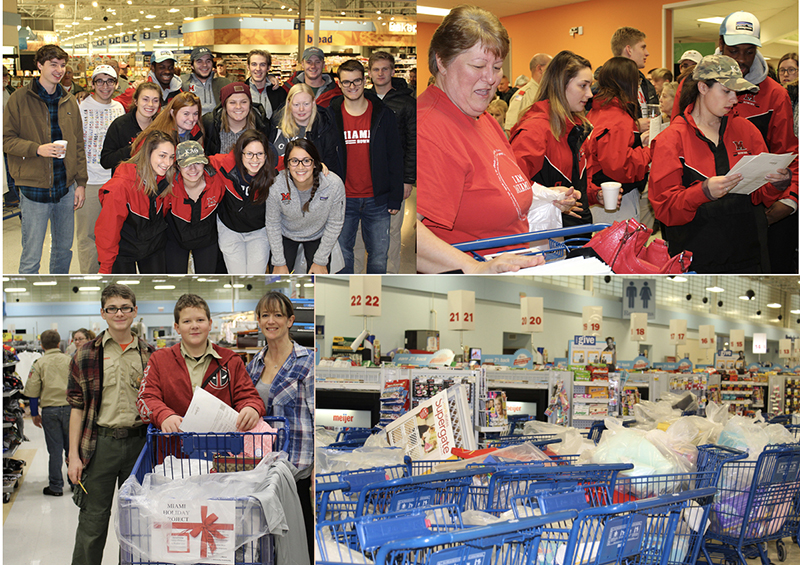 Many volunteers shopped for gifts for the Holiday Project.