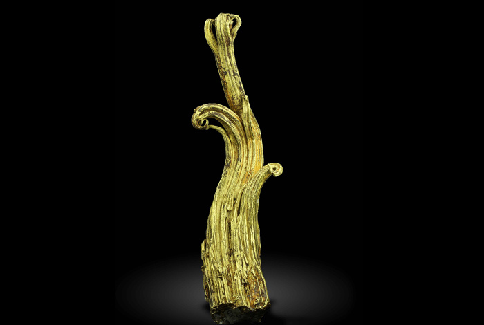 The Ram's Horn wire gold specimen. Almost nothing was known about wire gold except its existence, until now.