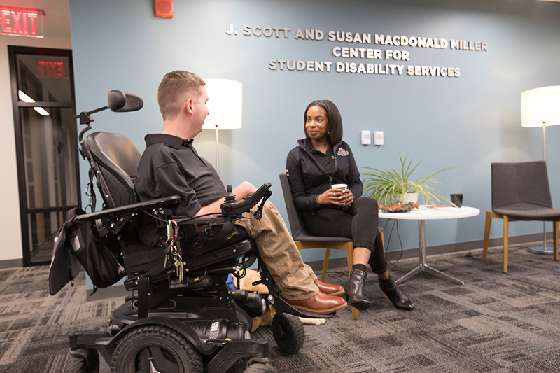 The J. Scott and Susan MacDonald Miller Center for Student Disability Services (SDS) provides services and reasonable accommodations to ensure equal access to education.