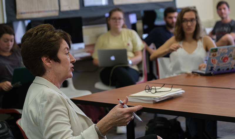Patricia Newberry teaches students that digital technology provides new ways of reporting and storytelling.