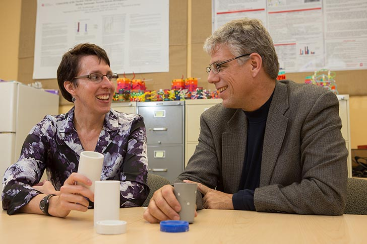 Donna Scarborough and Michael Bailey-Van Kuren collaborated on two inventions that could improve the daily lives of special needs children and others.