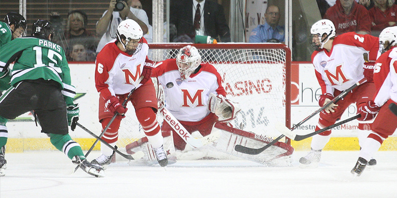 Photo of a hockey game.