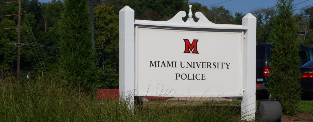 Miami University Police Department Sign