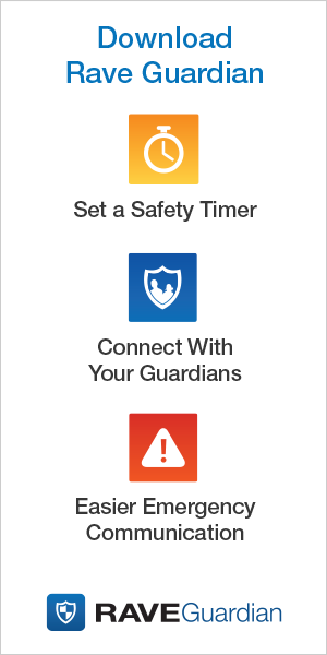 Download Rave Guardian. Set a safety timer, connect with your guardians, and get easier emergency communication.
