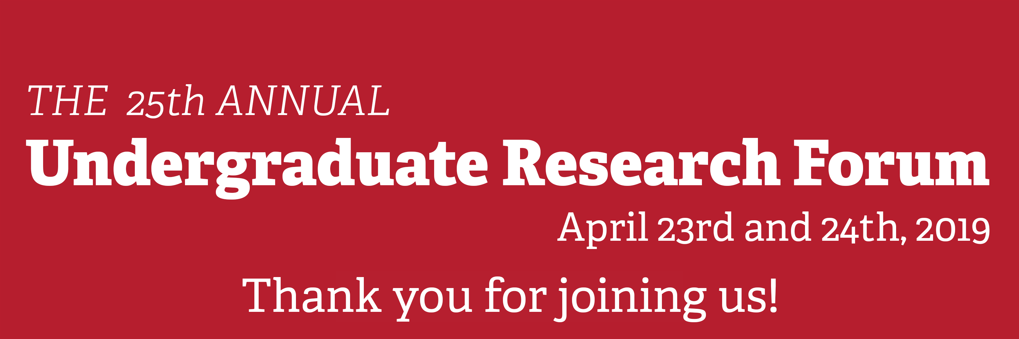 Save the date for the Undergraduate Research Forum now