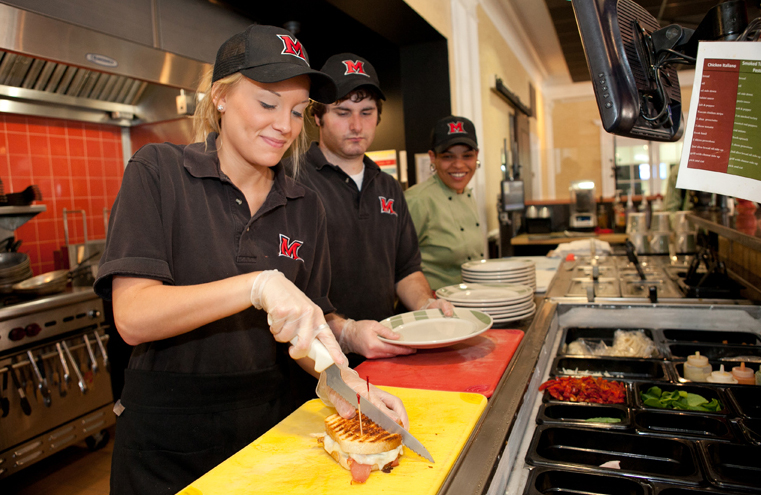 Need a few bucks for pizza night? Consider becoming a student employee at one of our great dining facilities.