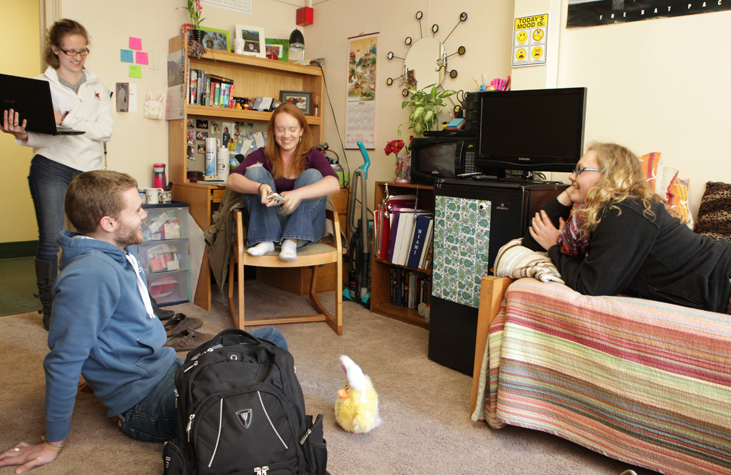 We have 35 residence halls, many of which are co-ed by floor.