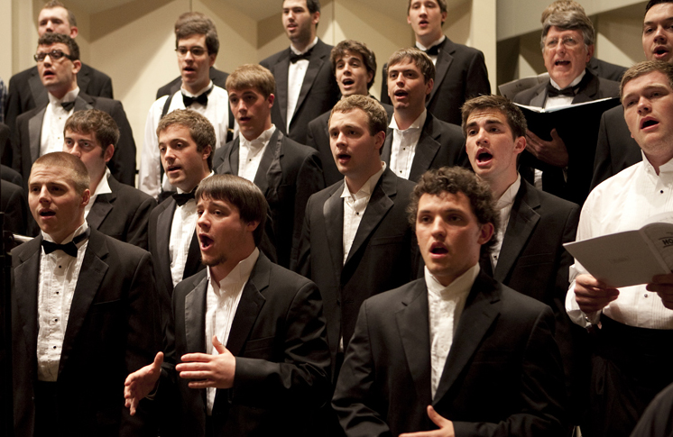 Founded in 1907, the Men's Glee Club is among the oldest and largest groups of its kind in the nation. Under the direction of Dr. Jeremy Jones, the tradition of excellence continues.