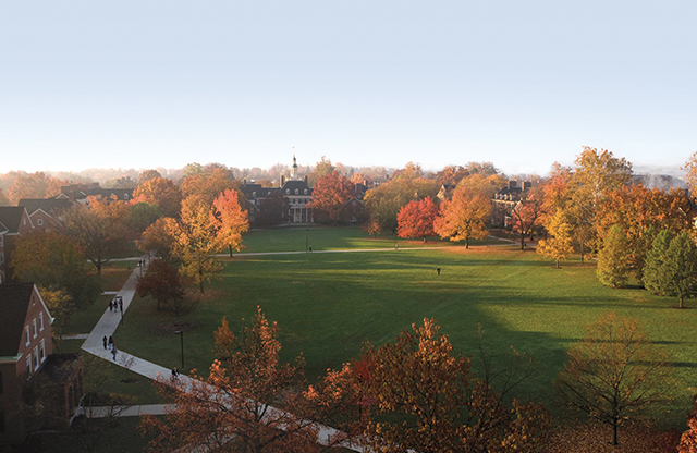 One of the most photographed spots in the state of Ohio, the MacCracken quad is home to dorms and dining facilities, tons of green space, and the sundial.