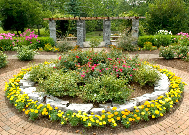 Stroll through the formal gardens and enjoy the beauty.