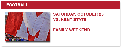 football, saturday, october 25 vs. kent state family weekend