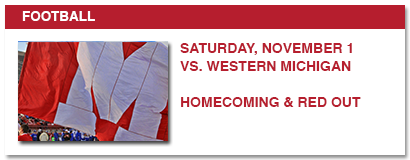 football, saturday, november 1 vs. western michigan, homecoming, red out