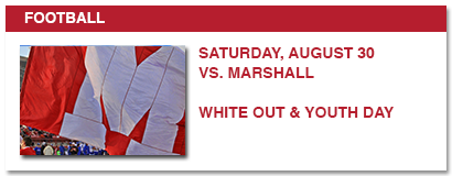 football, saturday, august 30 vs. marshall white out