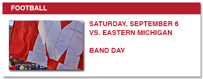 football, saturday, september 6 vs. eastern michigan band day