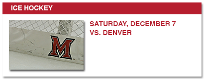 ice hockey, saturday, december 7 vs. denver