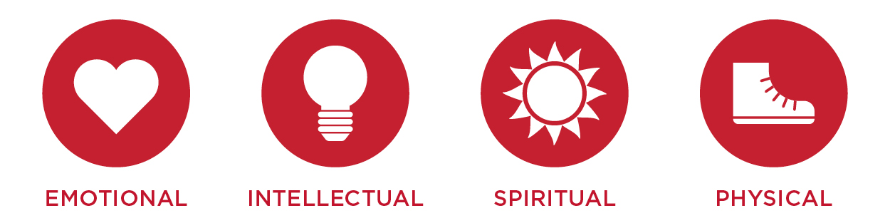 Emotional, intellectual, spiritual, physical
