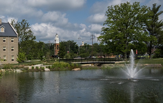 Pond on Western campus