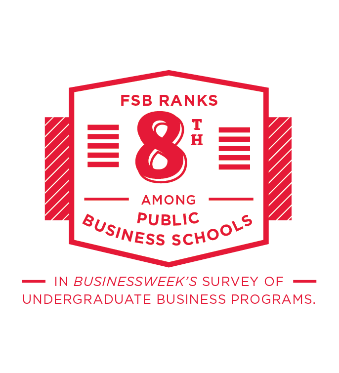 FSB ranks 8th among public business schools in Businessweek's survey of undergraduate business programs