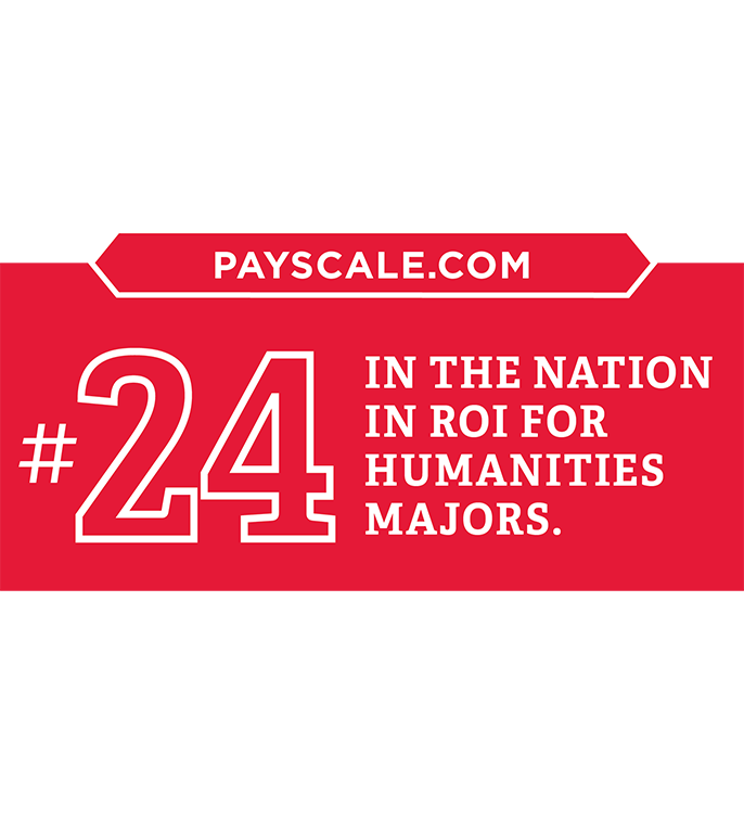 Payscale.com #24 in the nation in ROI for humanities majors