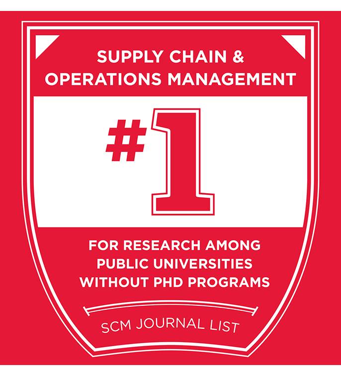 Supply Chain and Operations Management #1 for research among public universities without PhD programs. SCM Journal List