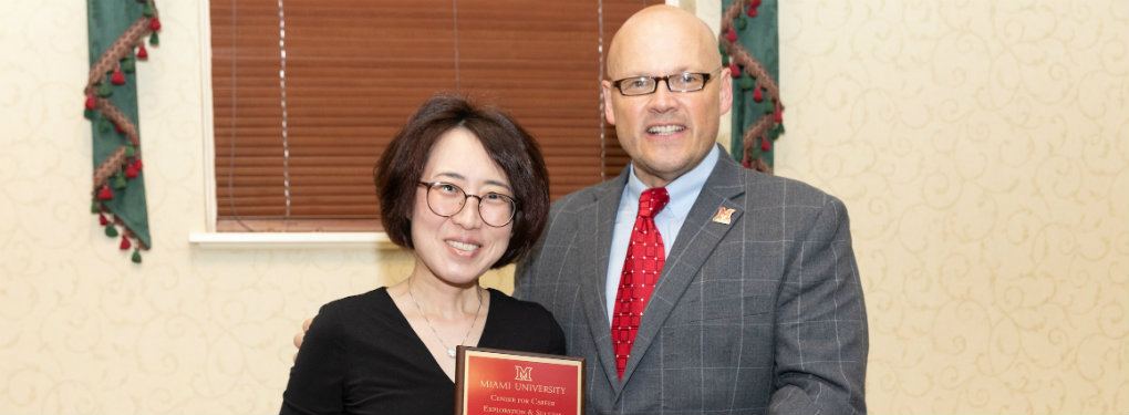 Eun Chong Yang receiving Career Development Award