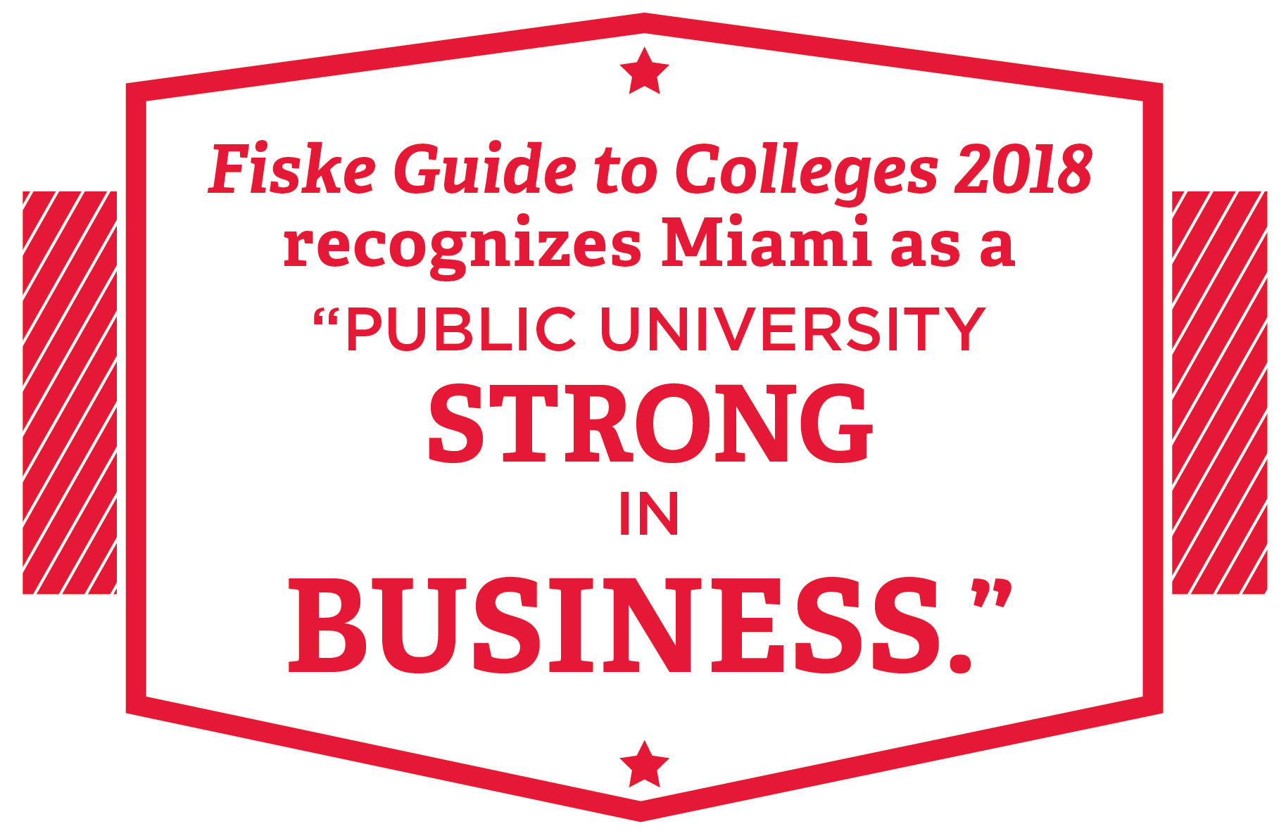 Fiske Guide to Colleges 2018 recognizes Miami as a 'public university strong in business'