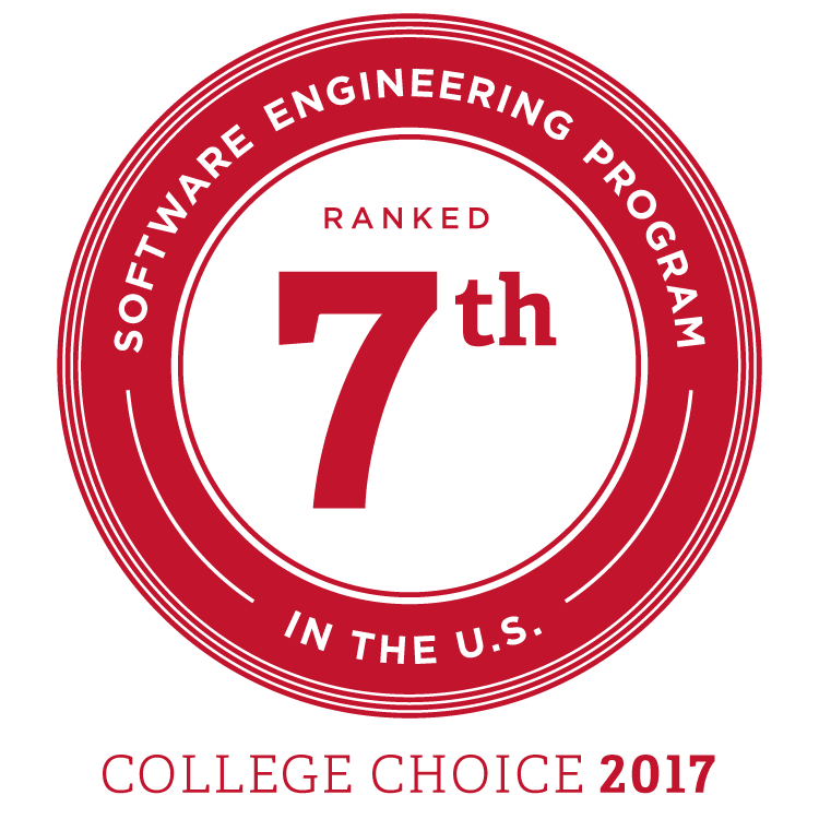Software engineering program ranked 7th in the US. College Choice 2017