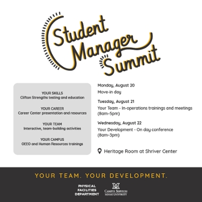 Student Manager summit