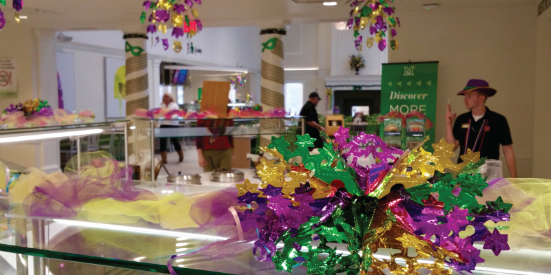 Mardi Gras special dinner at Garden Commons