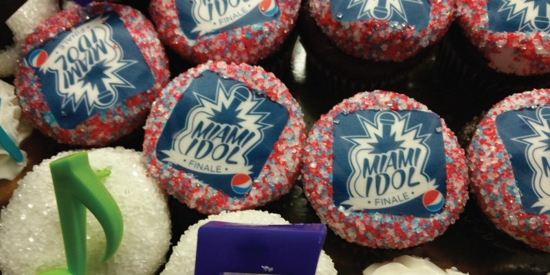 Miami Idol, powered by Pepsi, cupcakes.