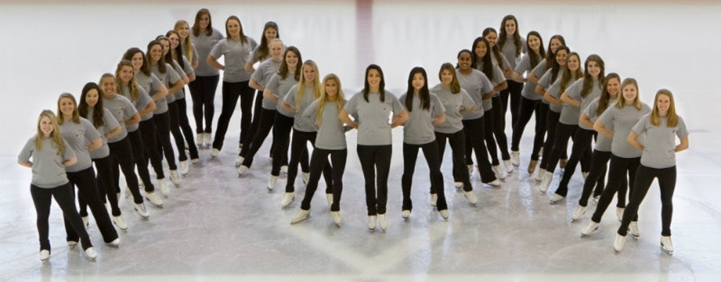Miami University Synchronized Skating Team pose