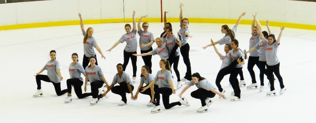 Summer skating school participants posing