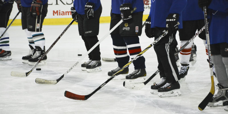 Hockey sticks lineup