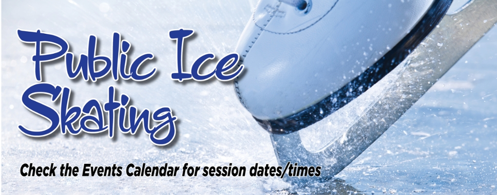 public ice skating. check the events calendar for session dates/times