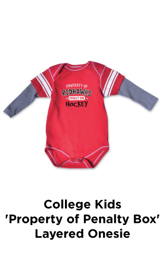 College Kids 'Property of Penalty Box' Layered Onesie