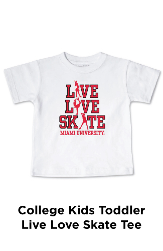 College Kids Toddler Live Love Skate Tee