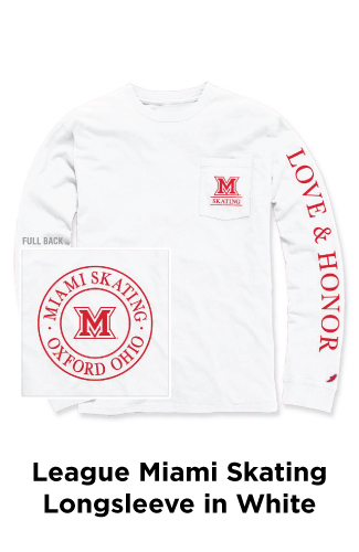 League Miami Skating Longsleeve in White
