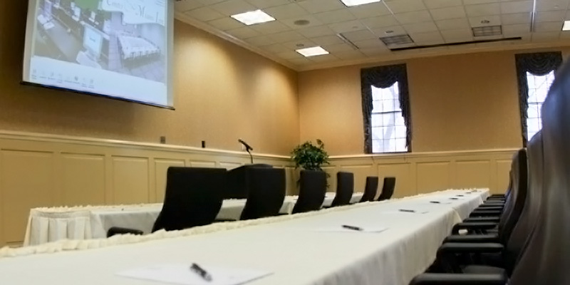 Classroom style setup for a Marcum Conference