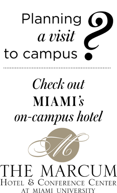 Planning a visit to campus? Check out The Marcum Hotel and Conference Center at Miami University.