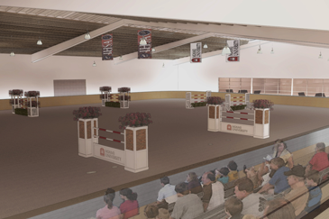 Rendering of the proposed indoor riding arena.