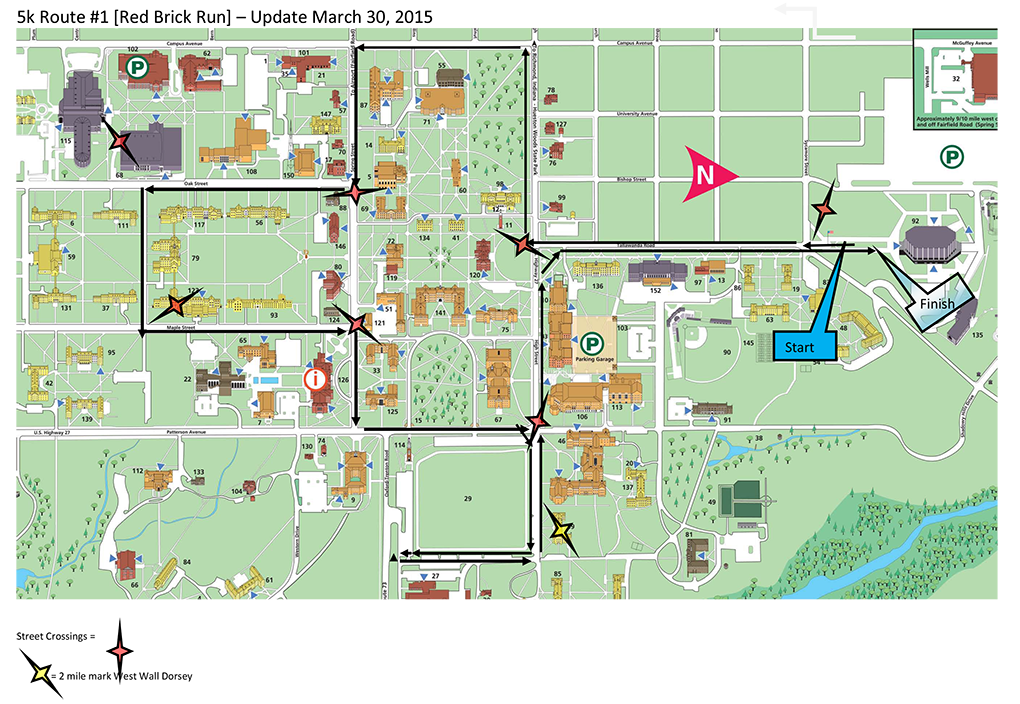 Redbrick Run Course image, see description below for route