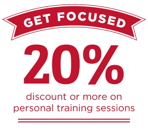Get focused 20% discount or more on personal training sessions