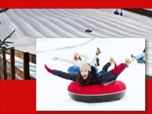 Snow tubing at Perfect North Slopes