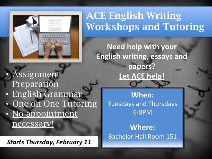 ACE writing tutors