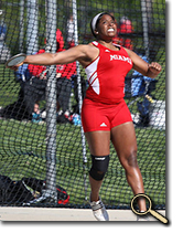 enlarged photo of Adaora Anunike and discus