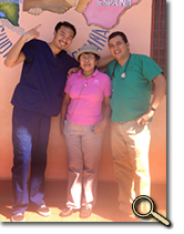 enlarged photo of Mark Loh and friends in Nicaragua