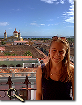 enlarged photo of Sammi Marshall in Nicaragua