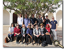 Group photo of participants in the Transitions and Traditions in Oman study trip