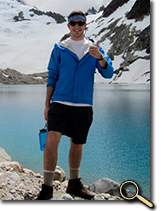 enlarged photo of Matthew Meeks in Patagonia